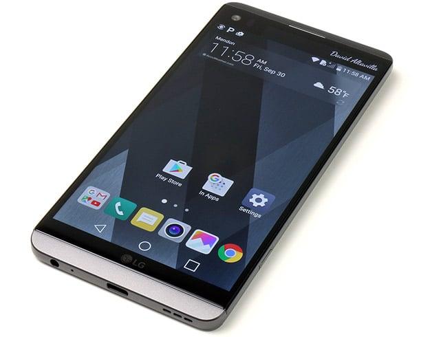 LG V20 Display On Top