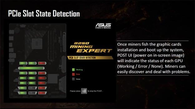 ASUS B250 Mining Expert Post UI