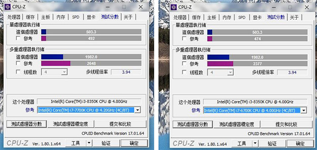 small 8350K CPU z - Intel Core i3-8350K Coffee Lake CPU Benchmark Leak Shows Strong Multi-Threaded Performance