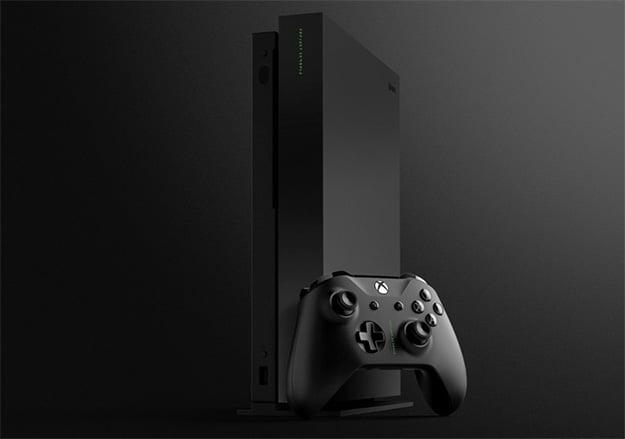Xbox One X Project Scorpio Angled