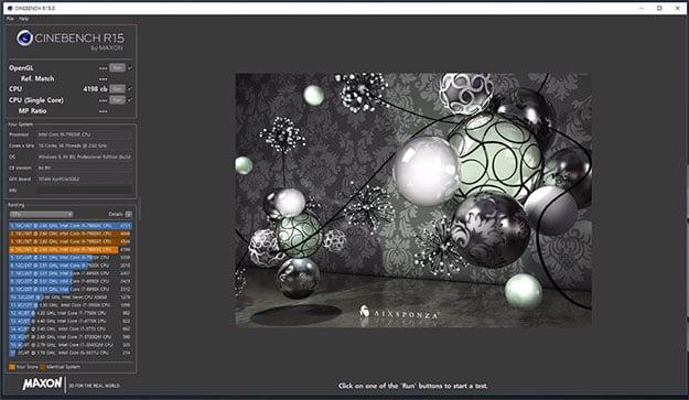 Core i9-7980XE CineBench