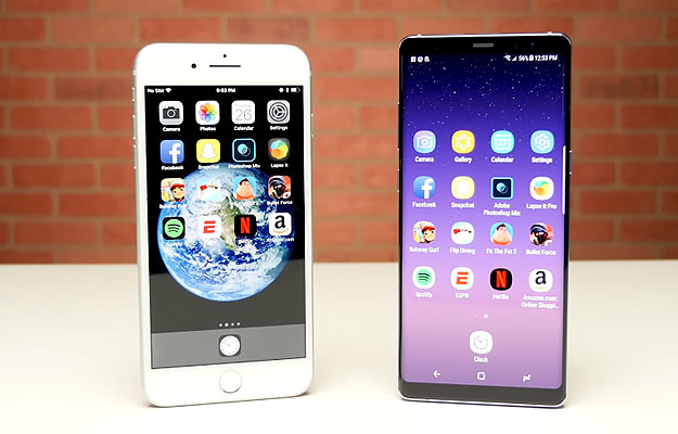 iPhone 8 Plus Galaxy Note 8