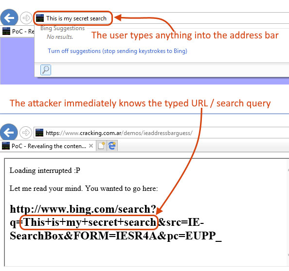 IE Search Exploit
