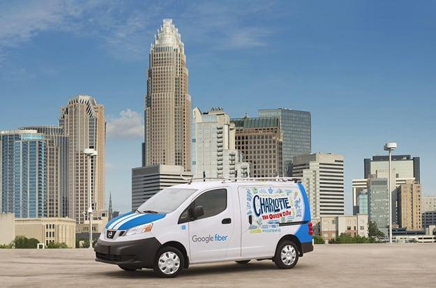 google fiber charlotte truck