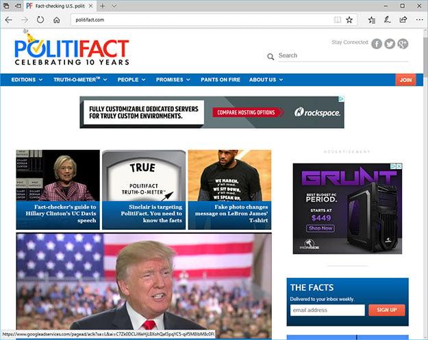 Politifact Website