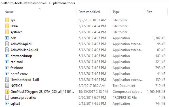 OnePlus 3 Firmware adb