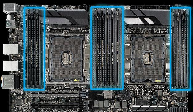 ASUS WS C621E SAGE DIMM Slots