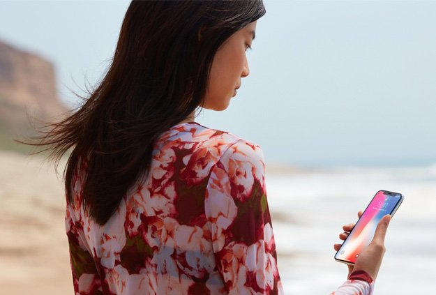 iphonex face recognition beach