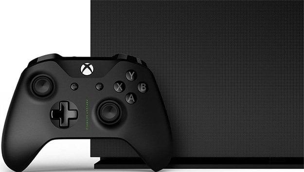 Xbox One X Project Scorpio Side