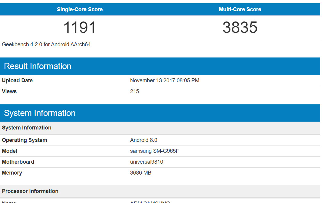 Alleged Samsung Galaxy S9 Plus Spied In Geekbench Listing Boasting Exynos 9810 Chipset