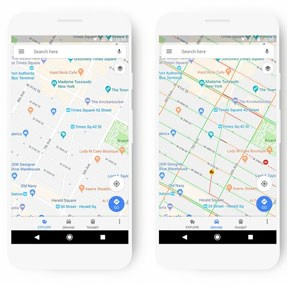 Google Maps Gets A Fresh Coat Of Paint And Color Coded Points Of Interest System