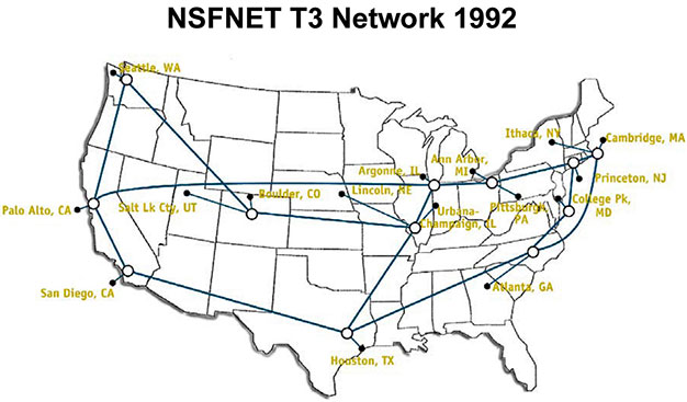 nsfnet map