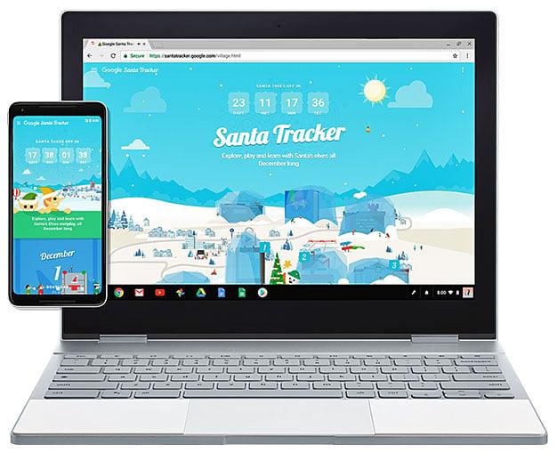 Santa Tracker App By Google