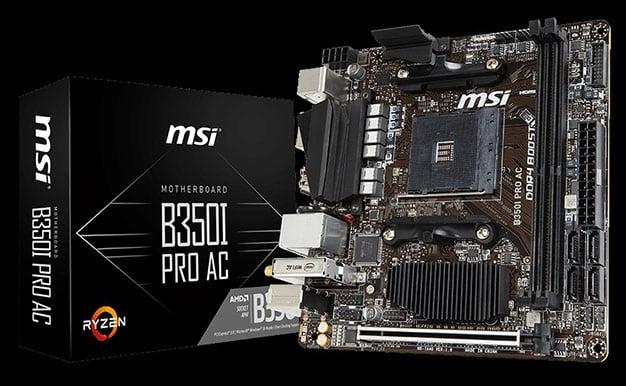 MSI B350I Pro AC For Ryzen