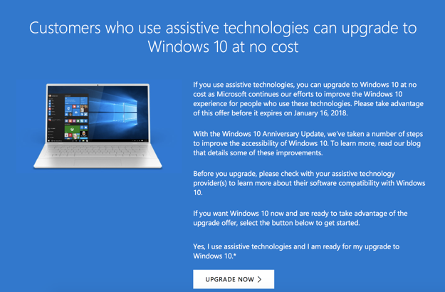 windows 10 offer
