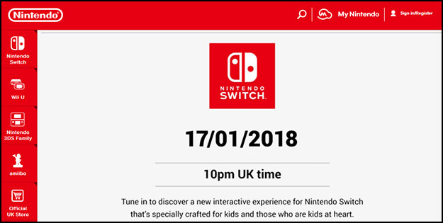 Nintendo Switch Announcement
