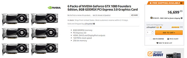GTX 1080 Six Pack Newegg