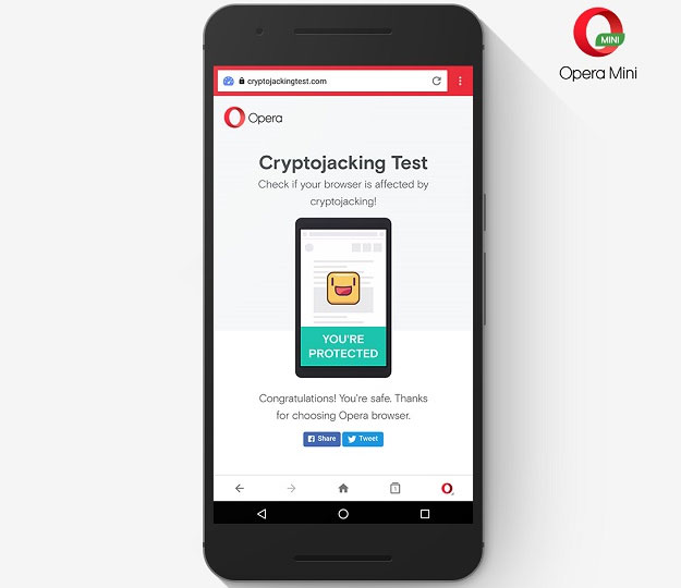 Opera updates its Android and iOS browsers with bitcoin mining protection