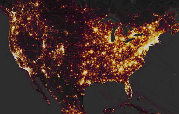 Heat Map Of Us.Strava Fitness Tracker Heat Map Under Fire For Exposing Us Soldier