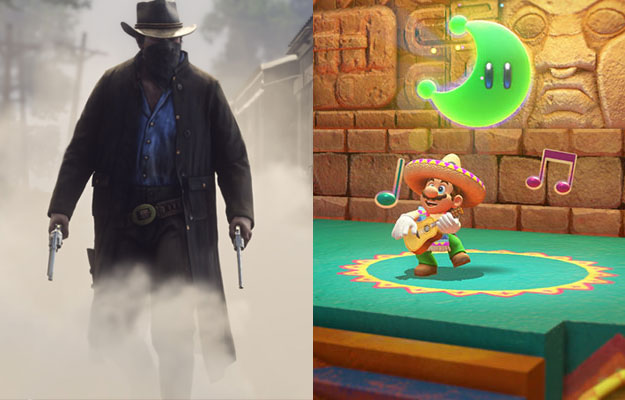 Red Dead Redemption 2 and Super Mario Odyssey
