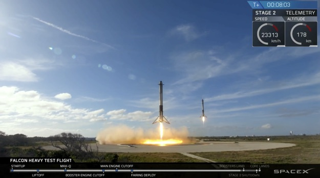 falcon heavy landings