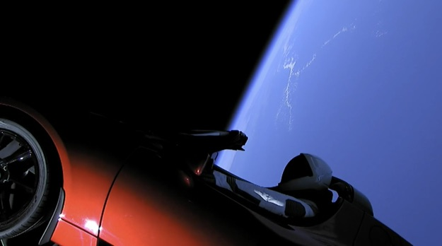 spacex tesla roadster 1