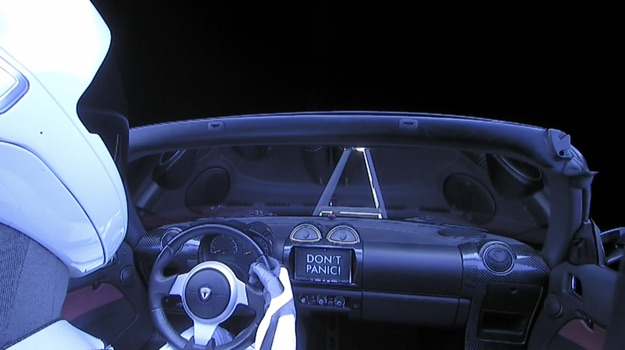 spacex tesla roadster 3