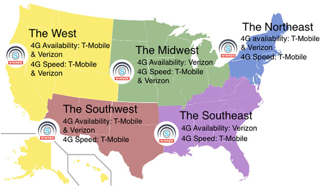 4G LTE Map