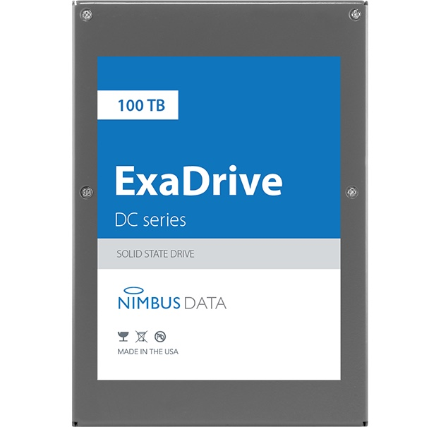 Nimbus Data ExaDrive DC100 Worlds largest SSD drive with 100TB capacity