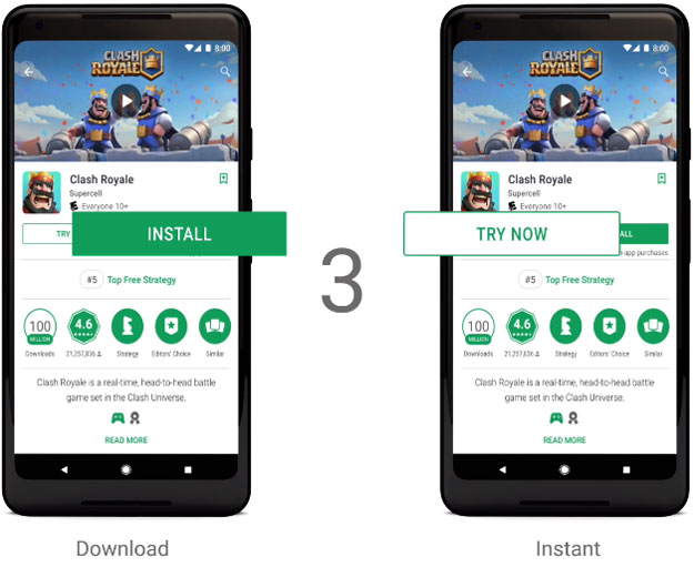 Google Play Instant Will Let You Try Games Before Downloading Them