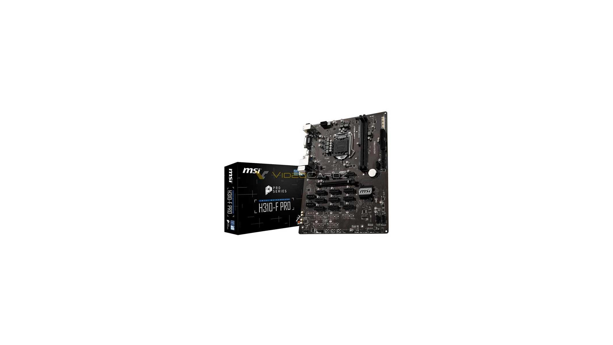 MSI H310-F PRO Coffee Lake Motherboard For Cryptocurrency