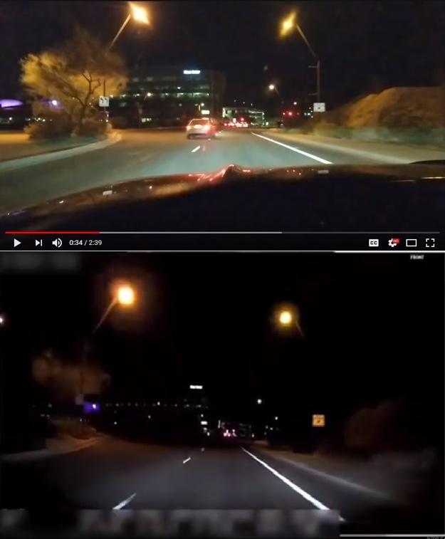 smartphone footage vs uber footage crash