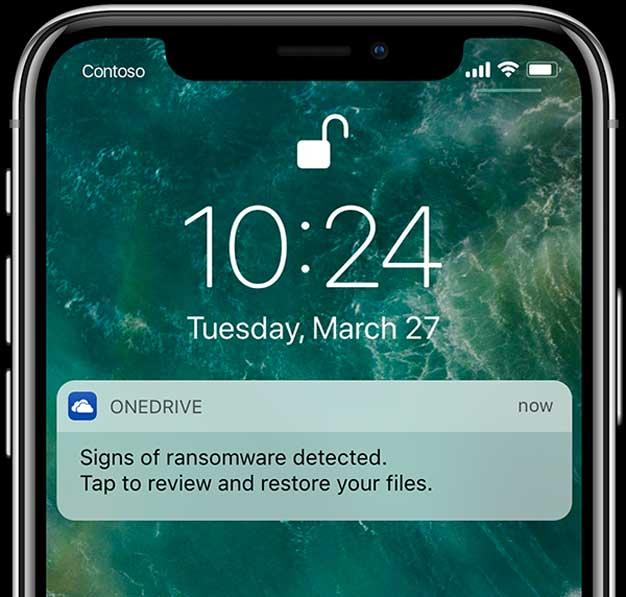 ransomware notificaiton
