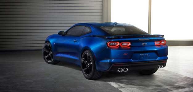camaro blue rear