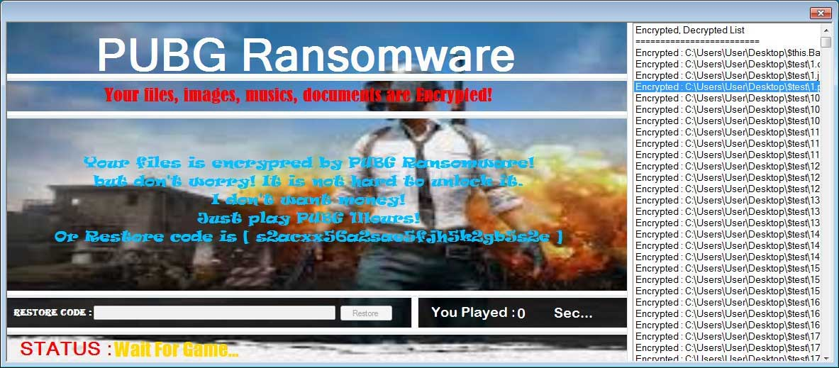 This New Ransomware Will Hold Your Files Captive Until You Play PUBG