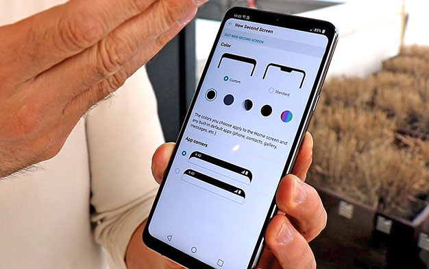 LG G7 Second Screen Notch Control