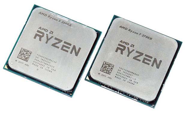 2600X and 2700X AMD Ryzen 2