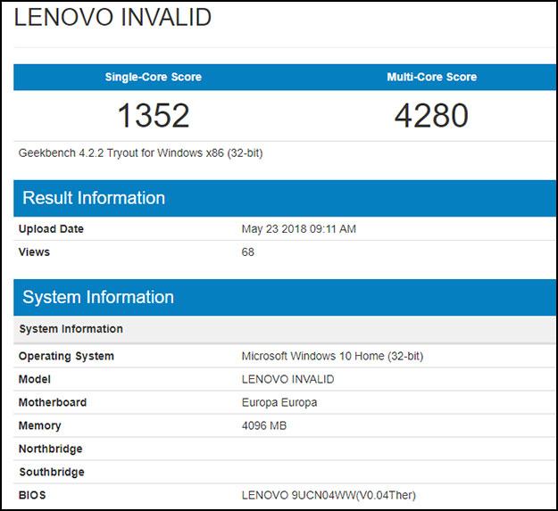 Lenovo Geekbench