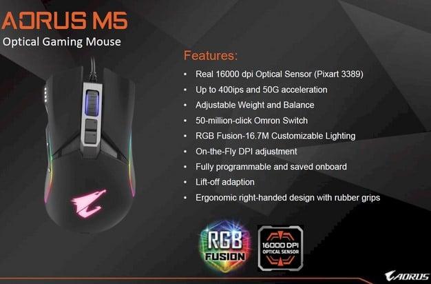 Gigabyte AORUS M5 Mouse