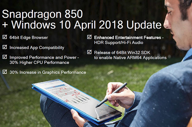 Snapdragon 850 And Windows 10 April Update