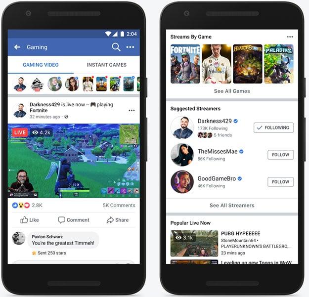 Facebook Game Streams