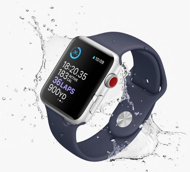 apple watch series 3 water