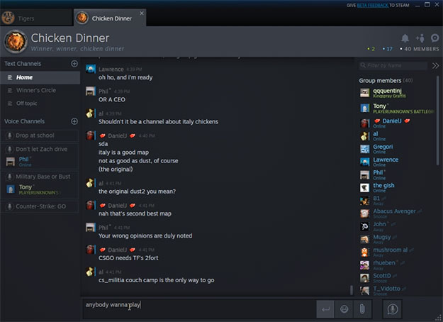 Steam Chat client