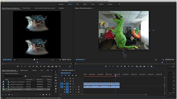 Adobe Premiere VR180
