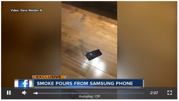 Smoking Samsung Galaxy S9