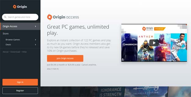 origin access site