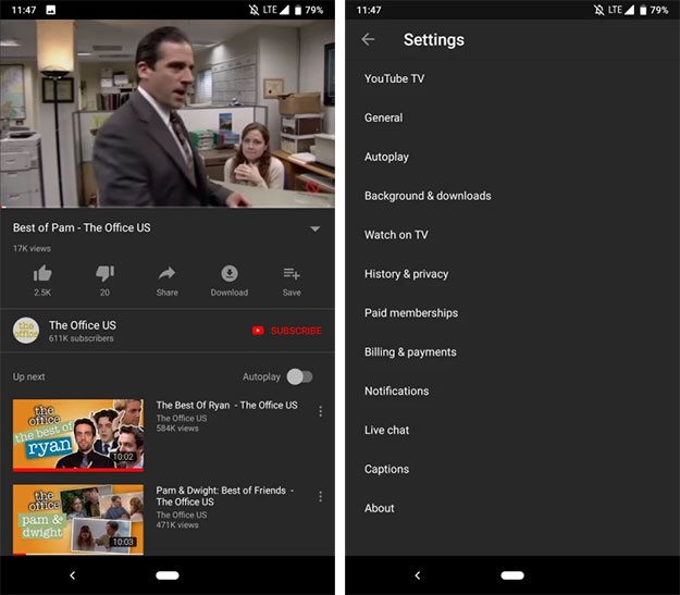 YouTube Dark Mode Now Rolling Out to Android Devices