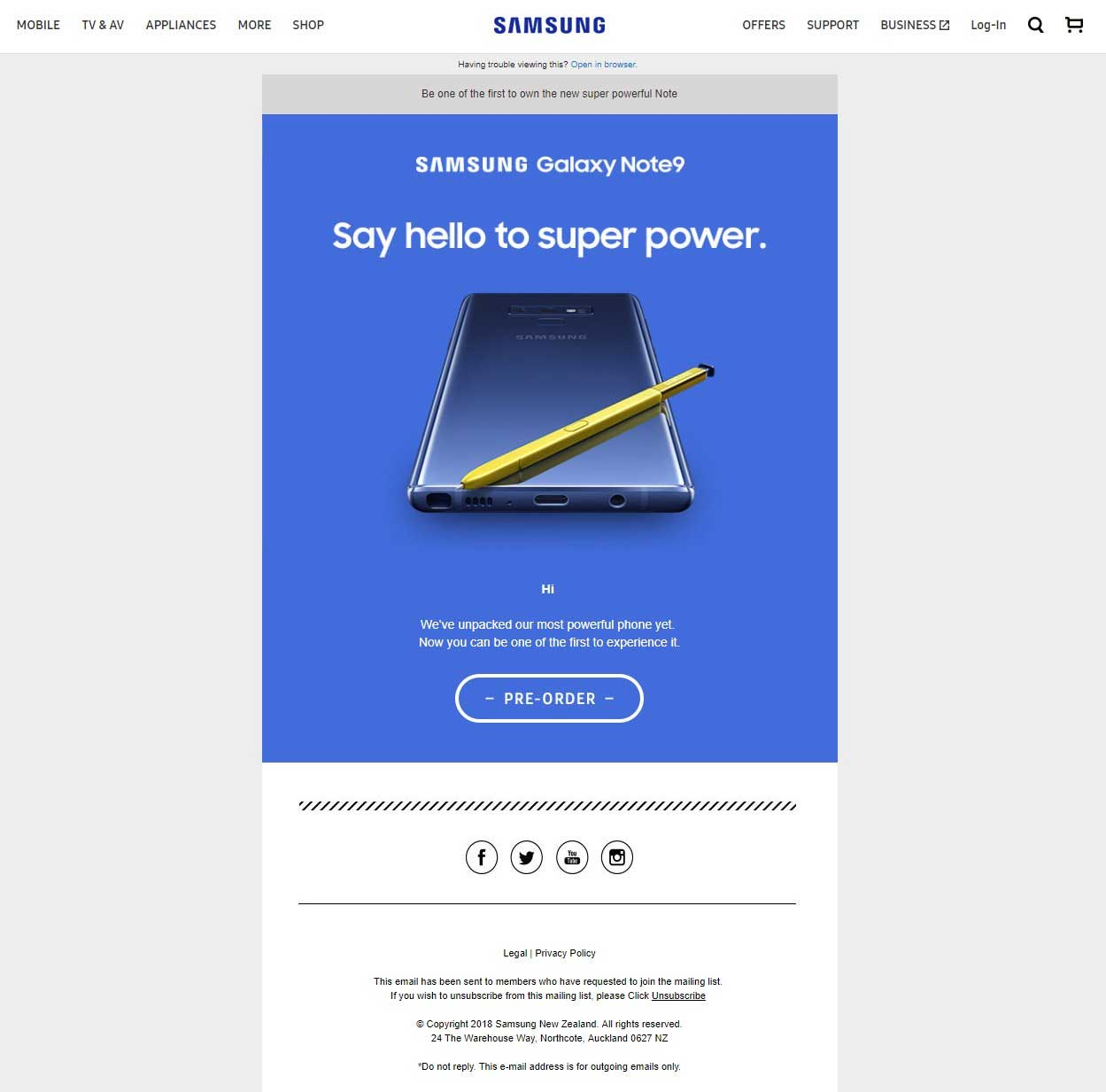 Samsung 'Accidentally' Posts Galaxy Note 9 Preorder Page A Week Ahead Of Launch