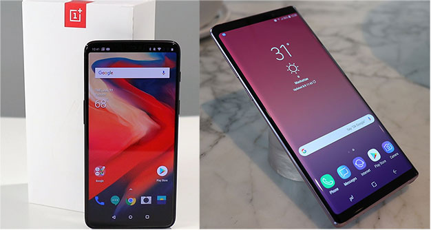 Galaxy Note 9 vrs OnePlus 6