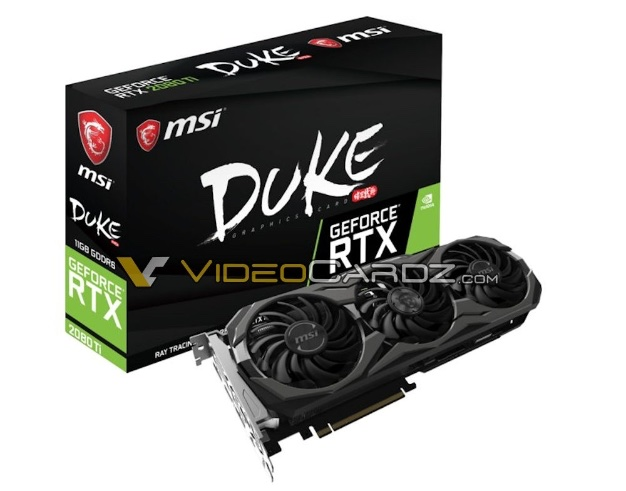 msi geforce GTX 2080 ti duke 2